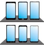 Σύνολο κινητών τηλεφώνων Στοκ εικόνα με δικαίωμα ελεύθερης χρήσης