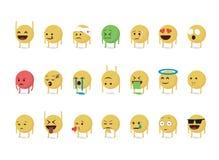 Σύνολο κινούμενων σχεδίων emoticon Στοκ Φωτογραφία