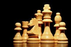 Σύνολο κομματιών σκακιού Στοκ φωτογραφία με δικαίωμα ελεύθερης χρήσης