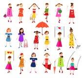 Σύνολο κοριτσιών Tenage Στοκ φωτογραφίες με δικαίωμα ελεύθερης χρήσης