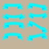 Σύνολο κορδελλών μπλε ουρανού Στοκ Εικόνες