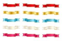 Σύνολο κορδελλών χρώματος Στοκ Εικόνα