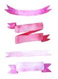 Σύνολο κορδελλών watercolor απεικόνιση αποθεμάτων