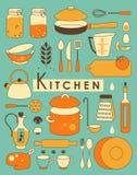 Σύνολο κουζινών Στοκ Εικόνα
