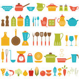 Σύνολο κουζινών Στοκ Εικόνες