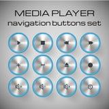 Σύνολο κουμπιών ελέγχου μέσων. Στοκ Φωτογραφία