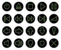 Σύνολο κουμπιών Ιστού, διαστιγμένα εικονίδια Στοκ Εικόνες