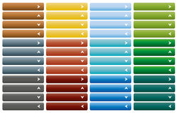 Σύνολο κουμπιών Ιστού με το βέλος Στοκ Εικόνα