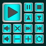 Σύνολο κουμπιών νέου Στοκ εικόνα με δικαίωμα ελεύθερης χρήσης