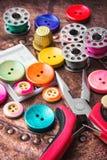 Σύνολο κουμπιών ραψίματος Στοκ φωτογραφίες με δικαίωμα ελεύθερης χρήσης