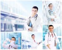 Σύνολο (κολάζ) νέου γιατρού Στοκ Εικόνα