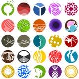 Σύνολο 25 κυκλικών εικονιδίων Στοκ εικόνα με δικαίωμα ελεύθερης χρήσης