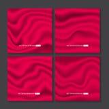 Σύνολο κόκκινης σύστασης μεταξιού Στοκ φωτογραφίες με δικαίωμα ελεύθερης χρήσης