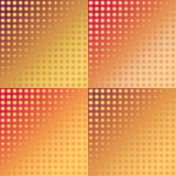 Σύνολο κόκκινων και κίτρινων άνευ ραφής σχεδίων ikat Στοκ φωτογραφία με δικαίωμα ελεύθερης χρήσης