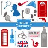 Σύνολο κόμματος Sherlock ιδιωτικών αστυνομικών διανυσματική απεικόνιση