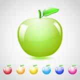 Σύνολο μήλων γυαλιού Στοκ εικόνα με δικαίωμα ελεύθερης χρήσης