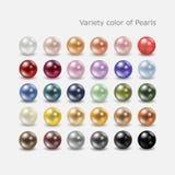 Σύνολο μαργαριταριών χρώματος ποικιλίας απεικόνιση αποθεμάτων