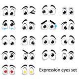 Σύνολο ματιών έκφρασης Στοκ εικόνα με δικαίωμα ελεύθερης χρήσης