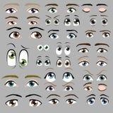 Σύνολο ματιών κινούμενων σχεδίων Απεικόνιση αποθεμάτων