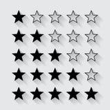 Σύνολο μαύρης εκτίμησης αστεριών Στοκ φωτογραφία με δικαίωμα ελεύθερης χρήσης
