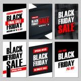 Σύνολο μαύρων εμβλημάτων πώλησης Παρασκευής Ειδική προσφορά, έκπτωση μέχρι 75% μακριά, κατάστημα τώρα, τελευταία πώληση Στοκ φωτογραφία με δικαίωμα ελεύθερης χρήσης
