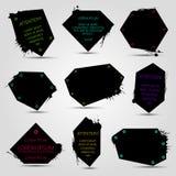 Σύνολο μαύρων εμβλημάτων απεικόνιση αποθεμάτων