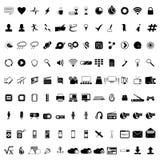 σύνολο μερών milo εικονιδίων εικονιδίων επικοινωνίας Εικονίδια Ιστού που τίθενται απεικόνιση αποθεμάτων