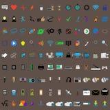 σύνολο μερών milo εικονιδίων εικονιδίων επικοινωνίας Εικονίδια Ιστού που τίθενται διανυσματική απεικόνιση
