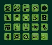 σύνολο μερών milo εικονιδίων εικονιδίων επικοινωνίας Στοκ Εικόνες