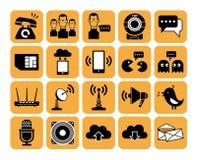 σύνολο μερών milo εικονιδίων εικονιδίων επικοινωνίας Στοκ Εικόνα