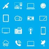 σύνολο μερών milo εικονιδίων εικονιδίων επικοινωνίας Στοκ εικόνα με δικαίωμα ελεύθερης χρήσης