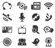 σύνολο μερών milo εικονιδίων εικονιδίων επικοινωνίας Στοκ Φωτογραφία