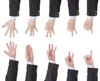 Σύνολο μετρώντας χεριού επιχειρηματιών Στοκ φωτογραφία με δικαίωμα ελεύθερης χρήσης