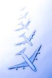 Σύνολο μικρών αεροπλάνων εγγράφου Στοκ Εικόνες