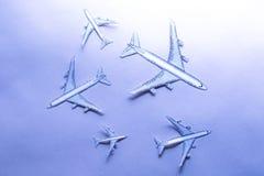 Σύνολο μικρών αεροπλάνων εγγράφου Στοκ φωτογραφία με δικαίωμα ελεύθερης χρήσης