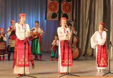 Σύνολο μουσικών στα λαϊκά όργανα Στοκ Εικόνες