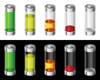 Σύνολο μπαταριών στα χρώματα Στοκ Εικόνες