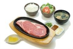 Σύνολο μπριζόλας βόειου κρέατος ασφαλίστρου (Kobe) Στοκ εικόνα με δικαίωμα ελεύθερης χρήσης