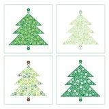 Σύνολο νέου δέντρου έτους με τα κουδούνια κατσαρολών Μπορέστε να χρησιμοποιήσετε ως η κάρτα Στοκ φωτογραφία με δικαίωμα ελεύθερης χρήσης