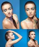 Σύνολο νέων nude πορτρέτων γυναικών με στοκ φωτογραφία