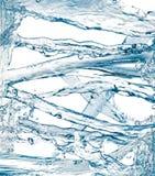 Σύνολο νερού που καταβρέχει που απομονώνεται στο λευκό Στοκ Φωτογραφία