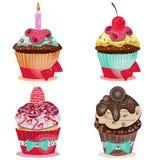 Σύνολο νόστιμου Cupcake Στοκ εικόνα με δικαίωμα ελεύθερης χρήσης