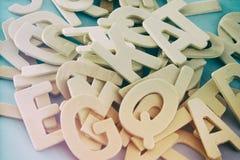 Σύνολο ξύλινες επιστολές του αγγλικού αλφάβητου Στοκ εικόνες με δικαίωμα ελεύθερης χρήσης