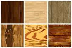 Σύνολο ξύλινου άνευ ραφής σχεδίου Στοκ Εικόνα
