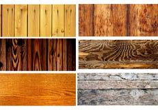 Σύνολο ξύλινων εμβλημάτων Στοκ Εικόνα