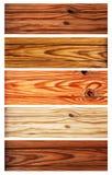 Σύνολο ξύλινων εμβλημάτων Στοκ εικόνες με δικαίωμα ελεύθερης χρήσης