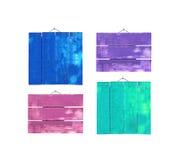 Σύνολο ξύλινων υποβάθρων χρώματος κρητιδογραφιών Στοκ Εικόνα