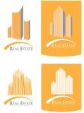 Σύνολο λογότυπων ακίνητων περιουσιών Στοκ φωτογραφία με δικαίωμα ελεύθερης χρήσης
