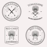 Σύνολο λογότυπων αμερικανών ιθαγενών Στοκ Εικόνες