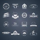 Σύνολο λογότυπων αρτοποιείων Στοκ φωτογραφία με δικαίωμα ελεύθερης χρήσης